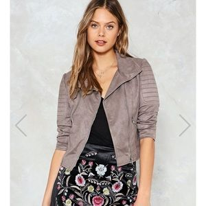 Taupe Moto Jacket from Nasty Gal - NWOT!